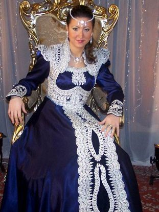 Picture of Dubai Kaftan Modern Jalabiya Cream Dress For Women Clot,104
