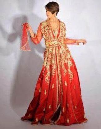 Picture of Elegant Modern Dubai Fancy Jilbab Jalabiya Lovely Weddi,194
