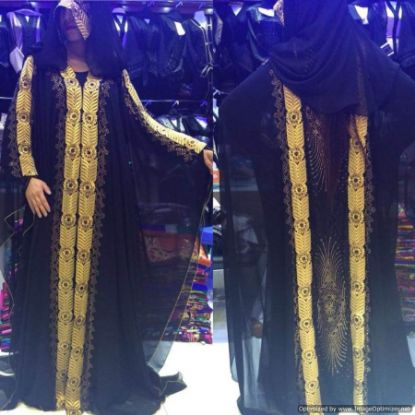 Picture of 2 Colour Abaya,Abaya 3D Model,abaya,jilbab,kaftan dres,F2786
