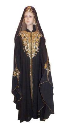 Picture of 1 Litra Burkas,Burka Crossword,abaya,jilbab,kaftan dreF4405