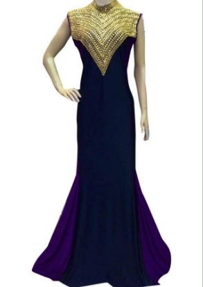 Picture of 2 Pc Evening Dresses,Kaftan Top Pattern,abaya,jilbab,kF5236