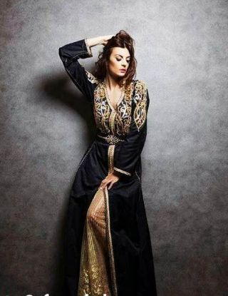Picture of Arabic Costume Dress Party Wear Long Sleeve Hand Embroidery