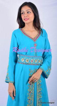 Picture of Arabian Elegant Party Wear Fancy Evening Caftan Long Sleeve