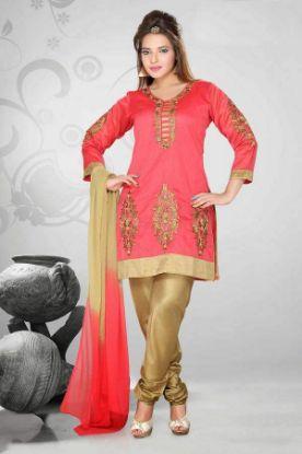 Picture of Designer Salwar Kameez Anarkali Suit Long Indian Suit Embro