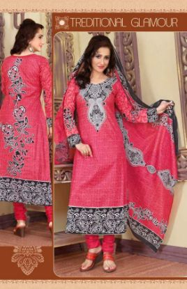 Picture of Indian Bollywood Designer New Cotton Semistitched Embroider