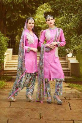 Picture of Beautiful Full Embroidery Chiffon Salwar Kameez Size 2Xl46