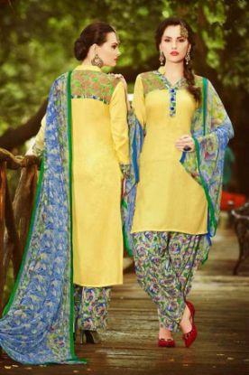 Picture of Beautiful Full Embroidery Chiffon Salwar Kameez Size 3Xl48