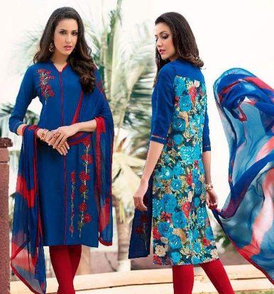 Picture of 14 Ethnic Unstitched Salwar/Shalwar Kameez Indian Designer s1418