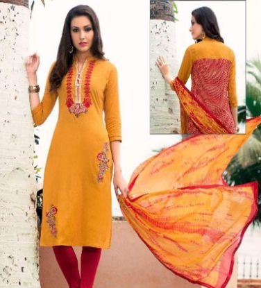 Picture of 14 Gorgeous Indian Salwar Kameez Unstitched Dress Material s1419