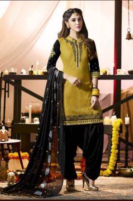 Picture of Anarkali Designer Peach Color Salwar Kameez Beautiful Styli