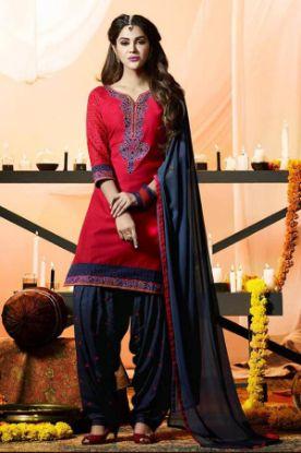 Picture of Anarkali Designer Pink Color Salwar Kameez Beautiful Stylis