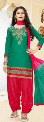 Picture of Diwali Festival Anarkali Special Partywear Sky Blue Long Go