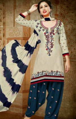 Picture of Diwali Festival Long Double Color Heavy Embroidery Sleevele