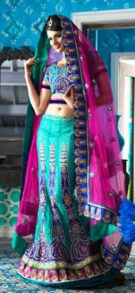 Picture of Bollywood Designer Indian Festival Ethnic Lehenga Choli Par