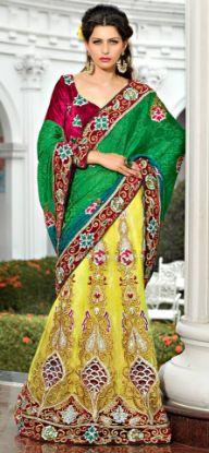 Picture of Banglori Satin Fabric Lehenga Choli Indian Ethnic Designer