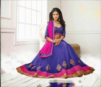 Picture of 2 states bridal lehenga,lehenga saree at voonikchaniya chol