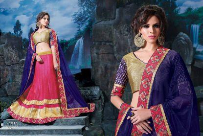 Picture of 3 color bridal lehenga,lehenga saree blouse designschaniya