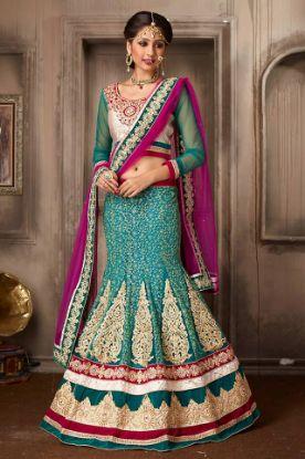 Picture of Awesome Lehenga Saree Partywear Designer Indian Sari Weddin