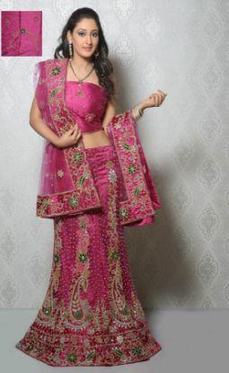 Picture of Awesome Lehenga Saree Partywear Designer Indian Sari W,G2568