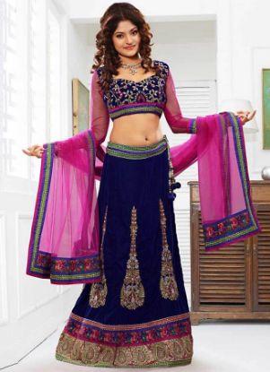 Picture of bridal lehenga by pakistani designers,lehenga size 44chaniy