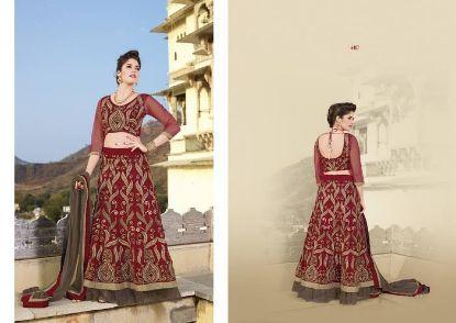 Picture of Black Indian Designer Lehenga Choli New Lengha Chunni ,G2661