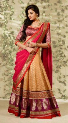 Picture of Attractive Heavy Maroon Lehenga Choli Bollywood Weddin,G2682