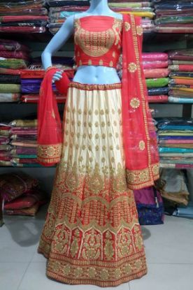 Picture of Attractive Designer Indian Bollywood Lehenga Choli Silk Vel