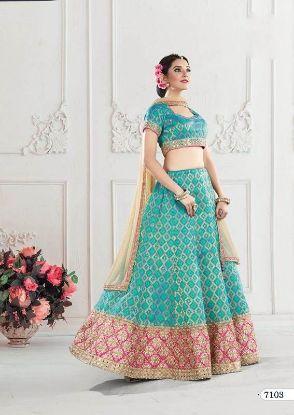 Picture of Alluring Multi Color Banarasi Silk Embroidery Work Designer