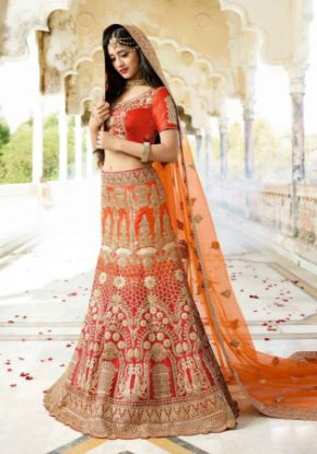 Picture of Asian Indian Designer Party Wear Lehenga Choli For Girls El