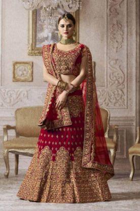 Picture of aqua color designer party wear lehenga,velvet lehenga colle