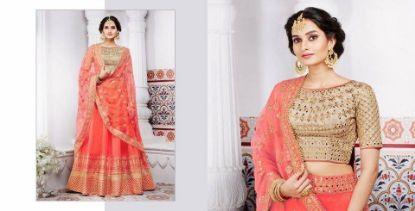 Picture of Arpana Trend Setter Lehenga Choli Style Georgette Sari,G4458