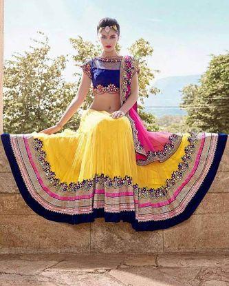 Picture of Arpana Trend Setter Lehenga Choli Style Georgette Sari Sare