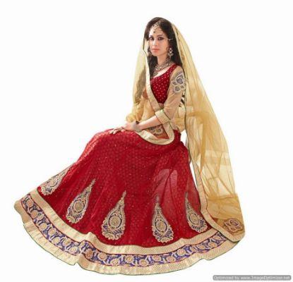 Picture of ahimsa silk lehengachaniya choli,choli,lehenga,belly dance