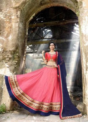 Picture of Beautiful Bangalore Silk Bollywood Lehenga Choli Desig,G5101