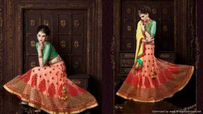 Picture of beautiful pakistani bridal lehenga,4 piece lehenga cho,G4802