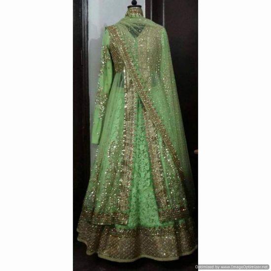 Picture of Ivorywhite Lace Wedding Dress Mermaid Detachable Trai,Q839