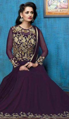Picture of A Line V Neck Lace Sleeve Applique Wedding Dresses Br,Q3765