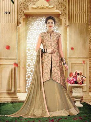 Picture of Luxury Wedding Dresses With Long Train Elegant Romant,Q2461