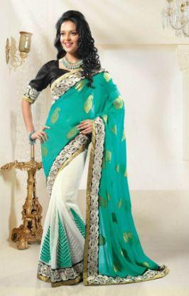 Picture of Goden Fancy Jari Work Uppada Softsilk Grand Silk Saree Doub