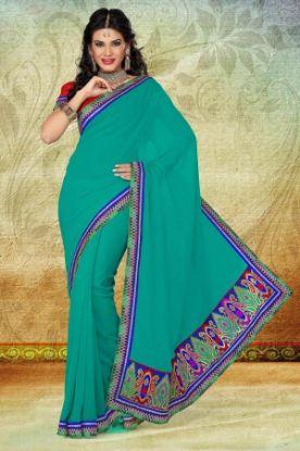 Picture of Bollywood Designer Sari Pakistani Indian Sari Traditional F
