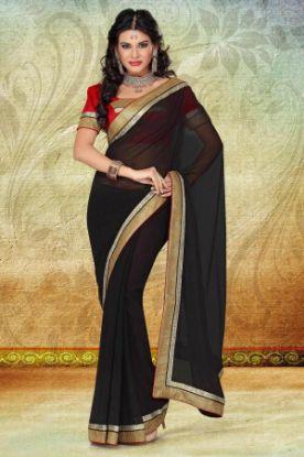 Picture of Bollywood Designer Wedding Partywear Georgette Saree Sari W
