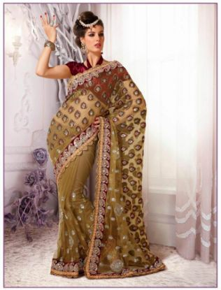 Picture of Georgette Saree Pakistani Indian Designer Awesome Party Wed
