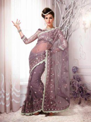 Picture of Georgette Sari Indian Ethnic Wedding Bollywood Designer Par
