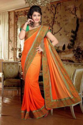 Picture of Deep Pink Bridal Designer Heavy Sequin Bollywood Saree Sari