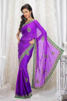 Picture of New ListingGeorgette Designer Sari Party Ethnic Fancy,E2181