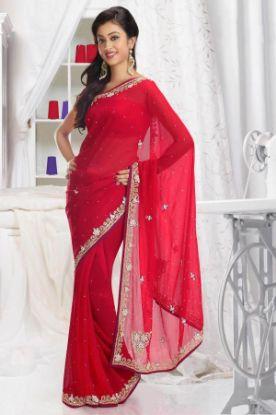 Picture of New ListingGreen Designer Sari Party Ethnic Fancy Bol,E2184