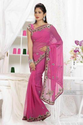 Picture of New ListingGreen Designer Sari Party Wear Ethnic Fanc,E2185