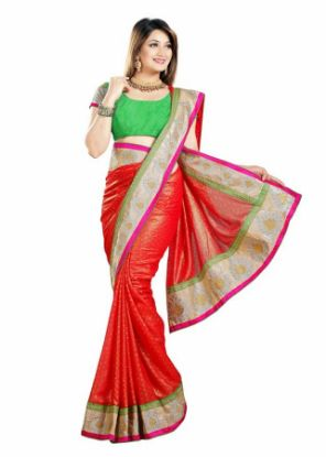 Picture of Green Net Saree Fashionable New India Pakistani Wedding Par