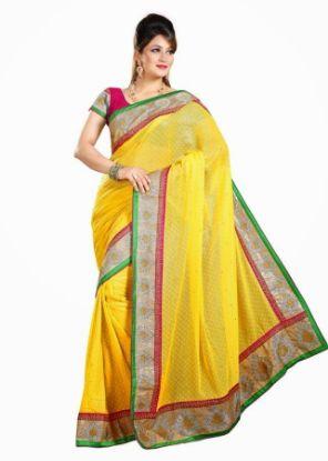 Picture of Green Silk Designer Indian Women Ethnic Party Wear Designer
