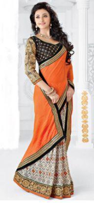 Picture of Indian Vintage Craft Saree Silk Blend Decor Fabric Cas,E4416